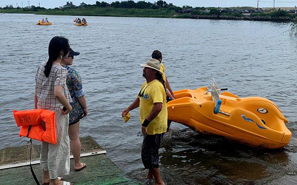 Purple Ape - paddle boats